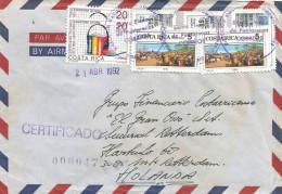 Costa Rica 1992 Santa Elena Cooperation With Liechtenstein Communication Registered Cover With Registration Slip - Costa Rica