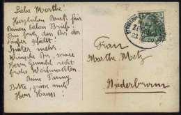 STRASSBURG - MARKOLSHEIM - ALSACE - TRAIN # 107 / 1909 AMBULANT SUR CARTE POSTALE / 2 IMAGES  (ref 5653) - Elsass-Lothringen