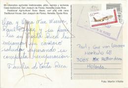 Costa Rica 1997 San Joaquin De Flores Airplane Aviation Card - Costa Rica