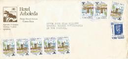 Costa Rica 1991 San Joaquin De Flores Meteorological Institute Overprint Domestic Cover - Costa Rica