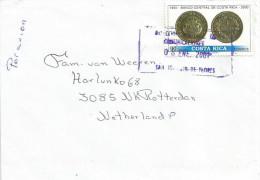 Costa Rica 2001 San Joaquin De Flores Coins National Bank Cover - Costa Rica