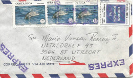 Costa Rica 1994 San Joaquin De Flores Dolphin Education Express Cover - Costa Rica