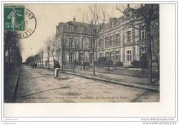 ILLIERS L´ECOLE PRIMAIRE SUPERIEURE Avenue De La Gare Cpa Bon état - Nogent Le Rotrou