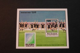 New Zealand 1057a Rugby World Cup Souvenir Sheet Block MNH 1991 A04s - Blocks & Sheetlets