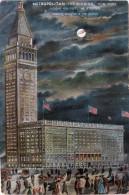 CPA - METROPOLITAN Life Building - NEW-YORK - Colorisée En Vue De Nuit - Autres Monuments, édifices