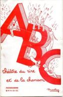 PROGRAMME DE A.B.C. THEATRE DU RIRE ET DE LA CHANSON A PARTIR DU 5 JANVIER 1940 - Programs