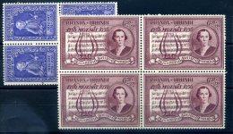 ROUANDA URUNDI N° 200/ 201 BLOCS DE 4 LUXE MNH - 1916-22: Neufs