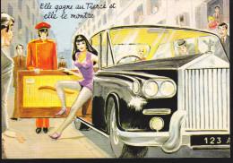 CP - (Illustrateurs) Carriere Louis - Elle Gagne Au Tiercé Et Elle Le Montre (charme Voiture) - Carrière, Louis