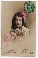 ENFANTS . PORTRAIT DE FILLETTE . BOUQUET DE FLEURS - Ref. N°6998 - - Portraits