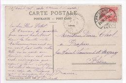 FRIBOURG - Le Quartier De Gambach   Cachet Perlé De SAINT LAURENT D' AGNY (Rhone) Ind. 4  (70930) - Suiza
