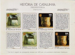 2066  Hojita Viñeta Historia De Catalunya  Prehistoria  ** - Variedades & Curiosidades