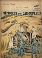 REVUE WW1 - COLLECTION PATRIE - MEMOIRES D UN CAMOUFLEUR