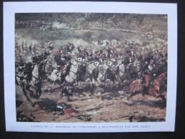 Carte De Voeux : Charge Du 3 ème Cuirassier à Reichshoffen Par Aimé MOROT - Uniformes