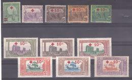 TUNISIE - CROIX ROUGE - 1915/16 - N� 48 � 58 - Neufs *