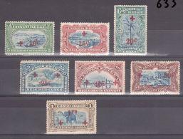 CONGO BELGE - CROIX ROUGE - 1918 - N� 72 � 78 - Neufs *