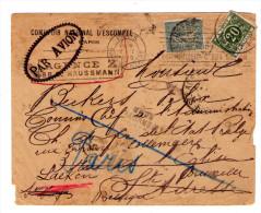 """lettre exceptionelle de 1919 - griffe festonn�e """"PAR AVION"""" - timbre semeuse 130 perfor� CNE -"""