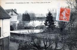 C94 Cpa 95 Chaponval - Inondations De 1910 - Vue De L´Oise Prise De La Côte - France