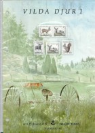 ANIMALSSWEDEN SUEDE SCHWEDEN 1992 MNH MI 1700 -1703 Collection Card Squirrel Deer Roebuck Eichhörnchen écureuil Ardilla - Other