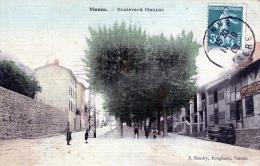 """C109 Cpa 38 Vienne - Boulevard Maupas """"carte Toilée Colorisée"""" - Vienne"""