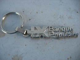 Porte Clef Métallique De La Banque Populaire - Key-rings