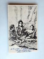 Carte Postale Ancienne : TONGA : Native Girl Jugglers - Tonga