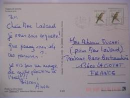 Kenya Carte De 1995 Pour La Ciotat - Kenya (1963-...)