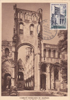 Carte Maximum FRANCE N°Yvert 985 (JUMIEGES) Obl Sp 1er Jour (Ed Lecerf) - 1950-59