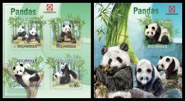 MOZAMBIQUE 2013 - Pandas - Mi 6692-5 + B778