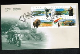 CANADA 1999 SCENIC HIGHWAYS #3 Se-ten FDC BL/4 MLH #1783a. GOOD CONDITION - Premiers Jours (FDC)