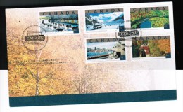 CANADA 2002 TOURIST ATTRACTIONS See Scan FDC # 1952 A-e      Hinged - 2001-2010