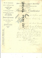 52 - Haute-marne - LANGRES - Facture COUTURIER - Scierie – 1901 - REF 4C - 1900 – 1949