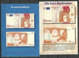 Deutsche Postkarten 1999 10 EUR Bank notes nach Estland gesendet