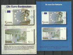 Deutsche Postkarten 1999 10 EUR Bank Notes Nach Estland Gesendet - Monete (rappresentazioni)