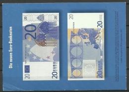 Deutsche Postkarte 20 EUR Bank note 1999 nach Estland gesendet