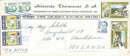 Venezuela 1993 Maracaibo Hillside Coil Stamps Cover - Venezuela