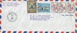 Honduras 1968 Tela Stamp On Stamp Post Office Bank Official Cover - Honduras
