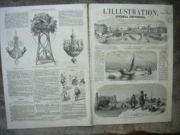 L�ILLUSTRATION 731 CANTON/ PERSE/ CARNAVAL ROME/ LA BOURSE/ FOURNEAUX ECONOMIQUES 28 f�vrier 1857