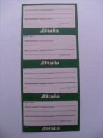 ADESIVO PUBBLICITARIO VINTAGE ETICHETTE BAGAGLIO ALITALIA  N.4 - VOLI AEREI LUGGAGE LABEL - Adesivi