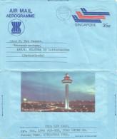 Singapore 1984 Changi Airport Aerogramme - Singapore (1959-...)