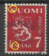 FINLAND FINNLAND Coat Of Arms With Printing ERROR Druckfehler O - Finland