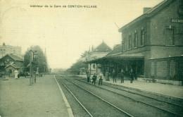 Kontich - Contich - Int�rieur de la Gare de Contich-Village - Station - Statie - 1912