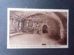 dep78 HAUTE-ISLE  temple des premiers chr�tiens  s�pulture apparente