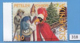 SLOVENIA 2006; Mi: 576; USED CTO; Folklore, Carnival Masks, The Cocks, Ponikve In The Dolenjska Region - Carnival
