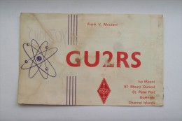QSL,RADIO AMATEUR CARD-ENGLAND,CHANNEL ISLANDS - Radio Amateur