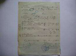 EFFRY AISNE MAIRIE COURRIER DE MONSIEUR BACHELART INSTITUTEUR DU 25 NOVEMBRE 1920 - Historische Dokumente