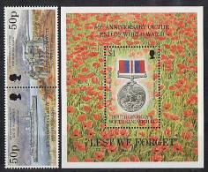 SOUTH GEORGIA 1995 - 50eme Ann Fin De La 2eme Guerre - 2v+1BF Neuf *** MNH - WW2