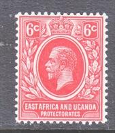 EAST AFRICA AND UGANDA  PROTECT.   42a  RE-ENGRAVED    *   Wmk. 3 - Kenya, Uganda & Tanganyika