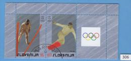 SLOVENIA 2006; Mi: 574, 575; USED CTO; Winter Olympic Games, Skii Jumping, Snowboarding - Slovenia