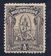 Mozambique Company, scott # 110 mint hinged Man & Ivory Tusks, 1918