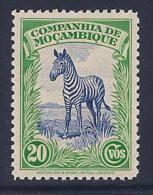 Mozambique Company, scott # 179 MNH Zebra, 1937